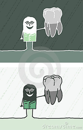 Dentist colored cartoon