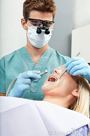 Dentist with Drill