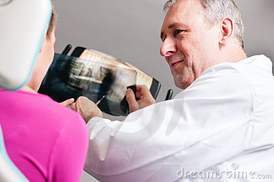 Dentist Explaining X-ray To Patient Royalty Free Stock Images - Image: 15160309