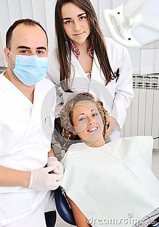 Dentists teeth checkup