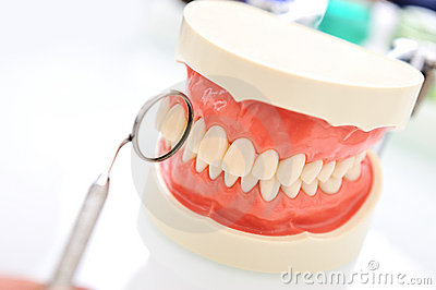 Dentist s teeth checkup, series of related photos
