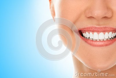 At a dentist with a smile Stock Photo