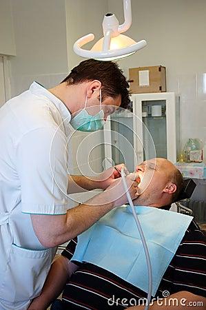 Dentista e paziente