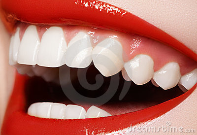 Dentistry. Happy smile, healthy white teeth, laugh