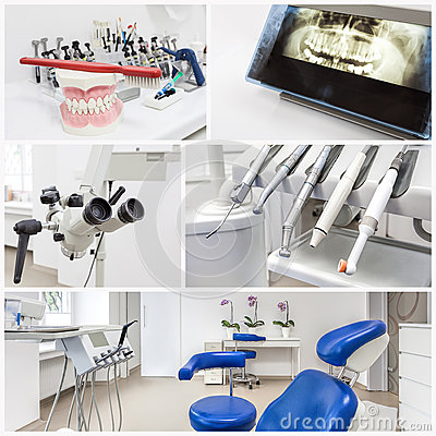 At the dentists - collage