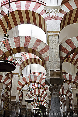 Dentro do Mezquita de Córdova, Spain