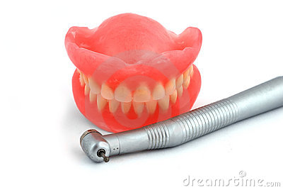 Dentures and handpiece