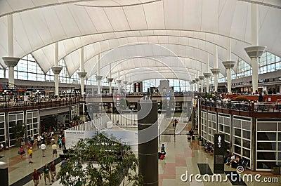 Denver airport interior Editorial Photo