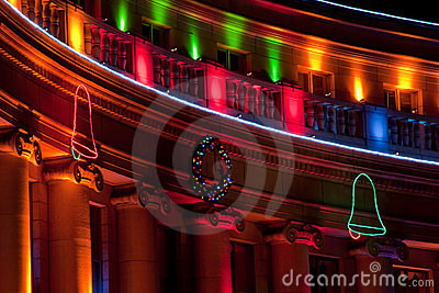 Denver City and County Building during Holidays