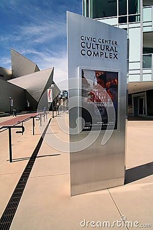 Denver Civic Center Cultural Complex Editorial Photo