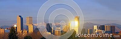 Denver Colorado skyline Editorial Stock Photo