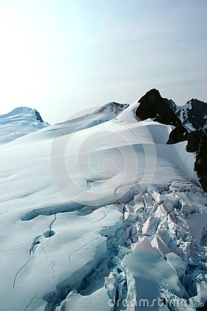 Denver Glacier, aerial view