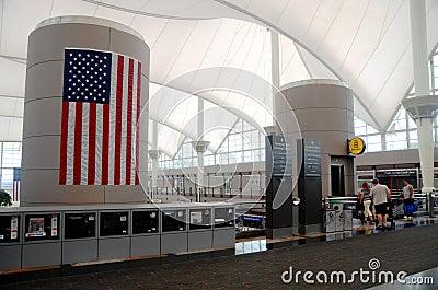 Denver international airport interior Editorial Image