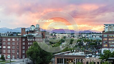 Denver Sunset Looped Timelapse banque de vidéos