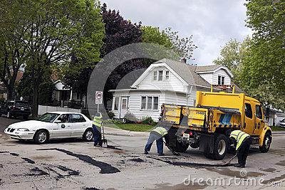 Department of Public Works in action Editorial Photo