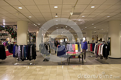 Department store mall shopping christmas tree ligh Editorial Stock Photo