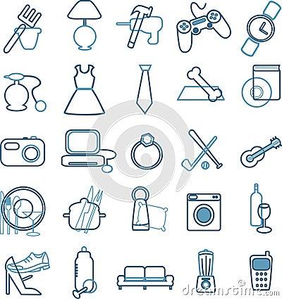 Department store menu icons