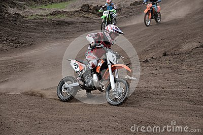Departure with acceleration MX racer Editorial Stock Image