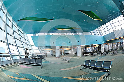 Departure hall of Marina Bay Cruise Center