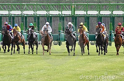 Departure of horses racing