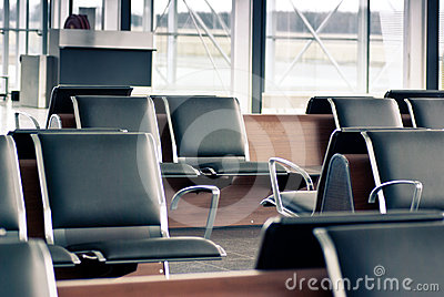 Departure lounge with sits