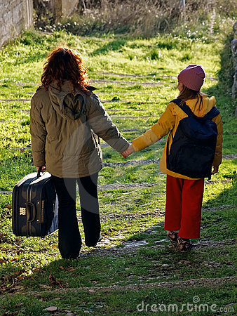Free Departure (mother And Girl) Royalty Free Stock Photo - 17653455