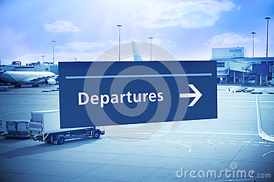 Departure Sign Airport Travel