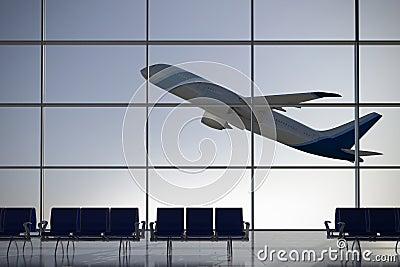 Departures airport terminal