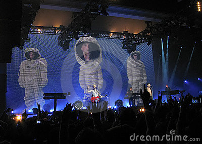 Depeche Mode at concert Editorial Image