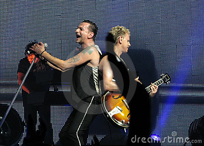 Depeche Mode Dave and Martin Editorial Photo
