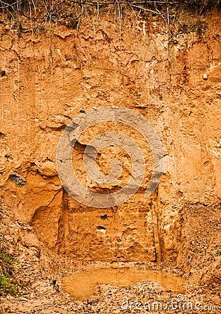 Deposit of clay