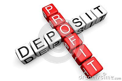 Deposit and Profit concept