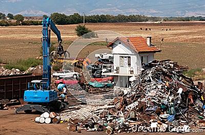 Depot for scrap metal