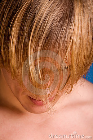 Depressed blond man