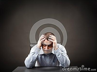 Depressed businessman
