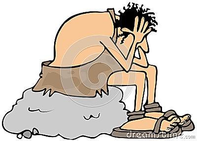 depressed-caveman-illustration-depicting-sitting-large-boulder-his-head-his-hands-60056442.jpg