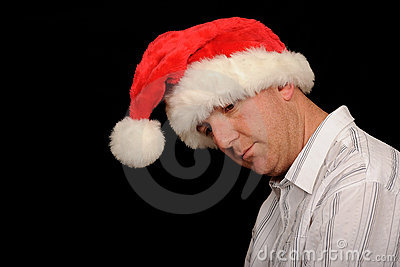 Depressed Christmas Man