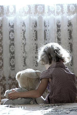 Free Depressed Little Girl Royalty Free Stock Images - 20853069