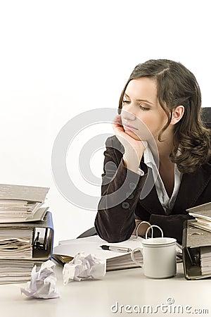 Free Depressed Secretary Royalty Free Stock Photo - 1730245