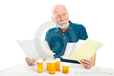 Depressed Senior Man - Medical Bills