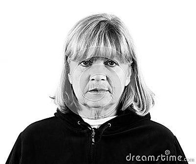 Depressed Senior Woman