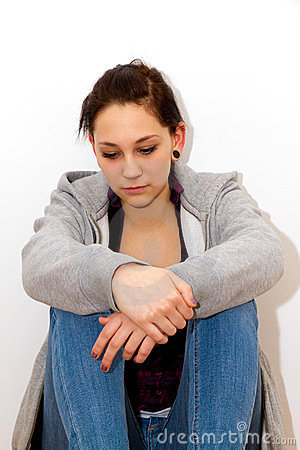 Depressive woman