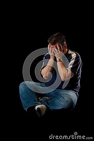 Deprimierter Mann