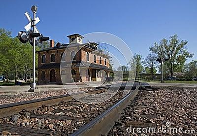 Depósito histórico da estrada de ferro