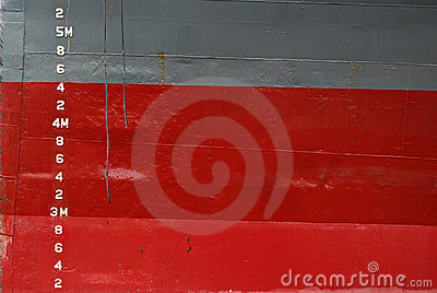 Water Depth Markings on Ship Hull