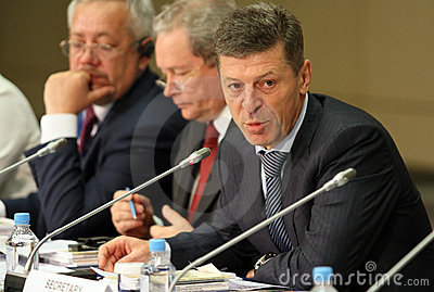 Deputy Prime Minister of the RF mr.Dmitry Kozak Editorial Stock Photo