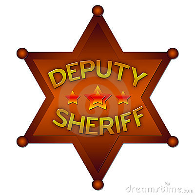 Deputy Sheriff abstract badge