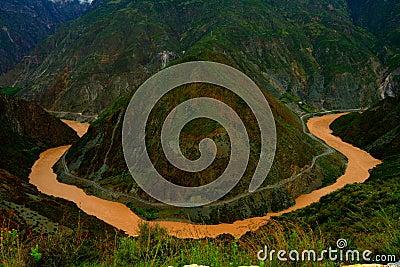 Der Fluss Jinsha
