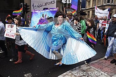 Der jährliche Bristol-homosexuelle Stolz 2011 Redaktionelles Stockbild