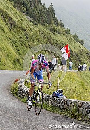 Der Radfahrer Alessandro Petacchi Redaktionelles Stockbild